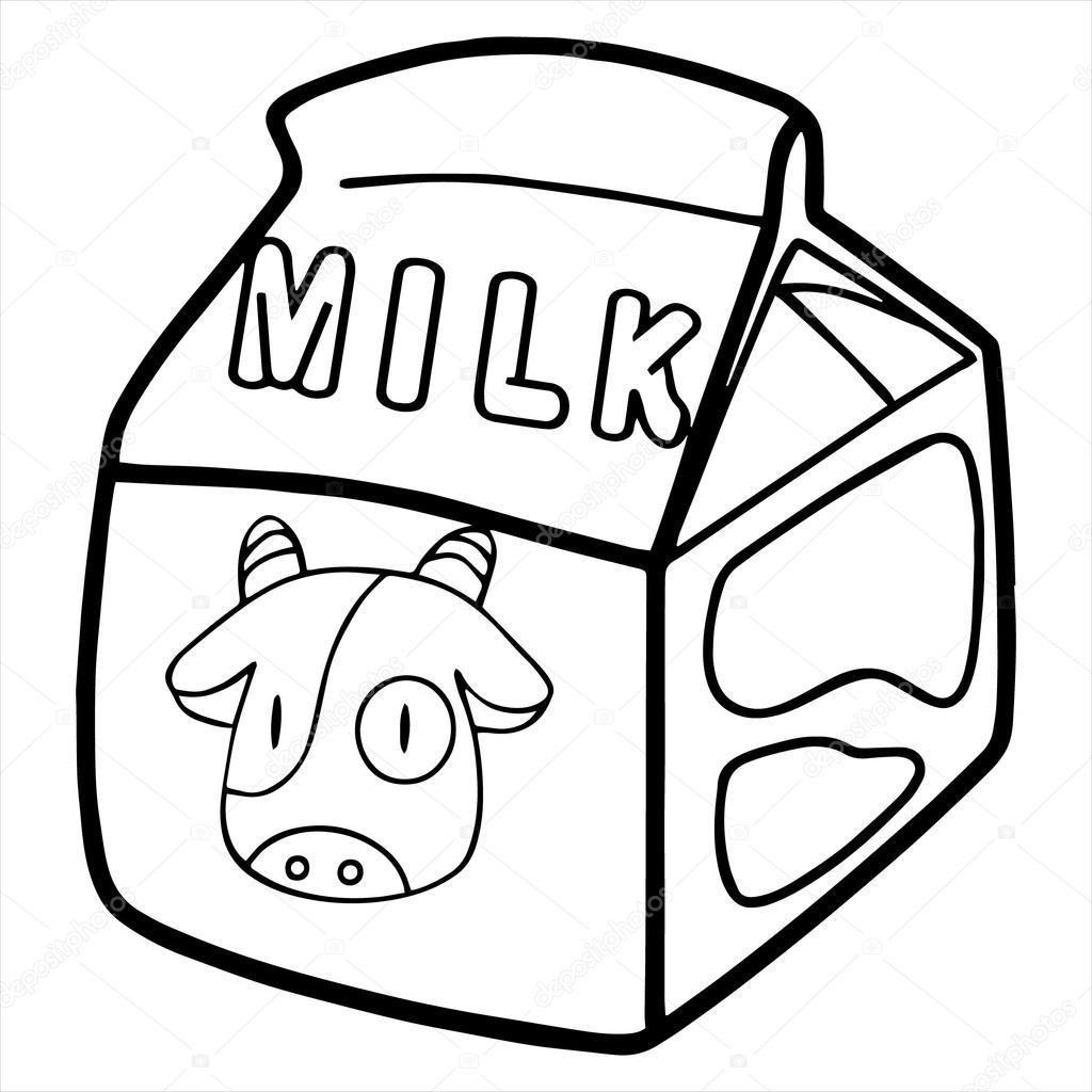 Картинки раскраска молоко
