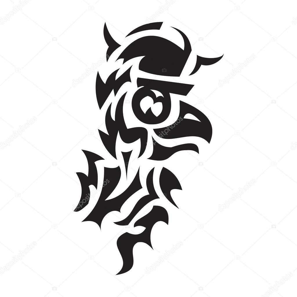 Bird Viking Tattoo Stock Vector Deanora 60985429