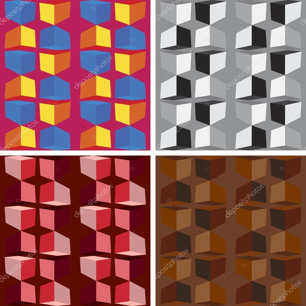 nahtlose abstrakte Kunst Häkelanleitung set — Stockvektor © Deanora ...