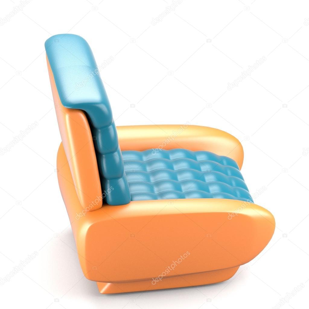 Blauw Leren Stoel.Futuristisch Design Blauw Leren Stoel Stockfoto C Deanora 93326984