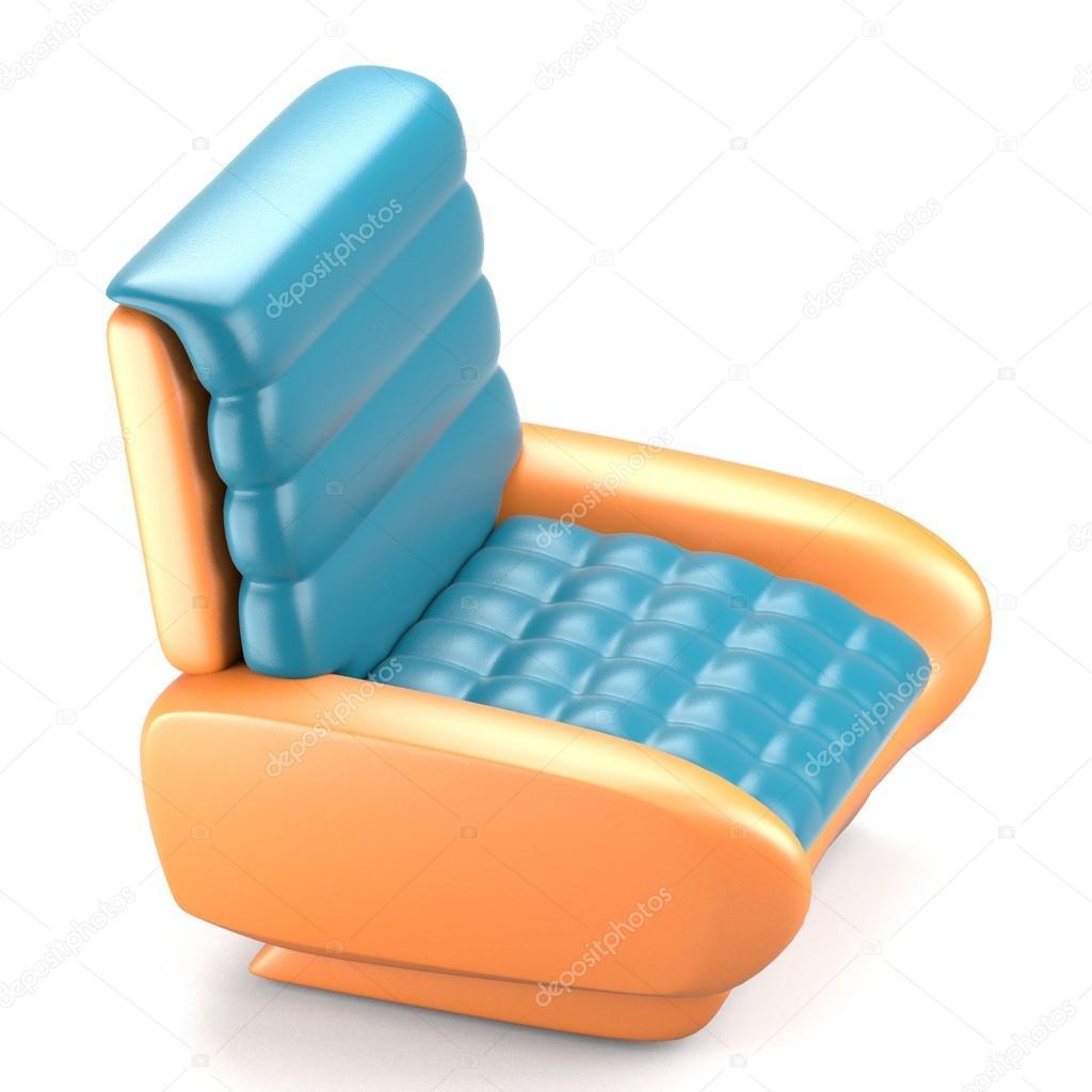 Blauw Leren Stoel.Futuristisch Design Blauw Leren Stoel Stockfoto C Deanora 93327040