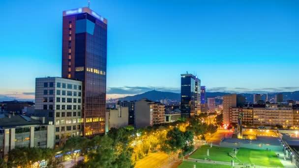 Barcelona Cidade Panoramica Visao Geral Dia A Noite Timelapse Video De Stock C Neiezhmakov 104340250