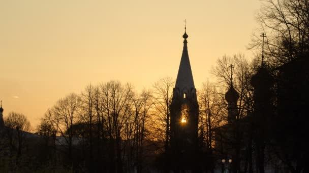 Yaroslavl, Church of St. Nicholas the Wet Mokry at sunset timelapse, 17th century