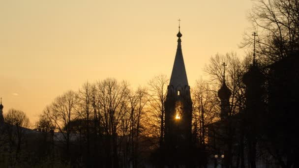 Yaroslavl, Church of St. Nicholas the Wet Mokry at sunset timelapse, 17th century