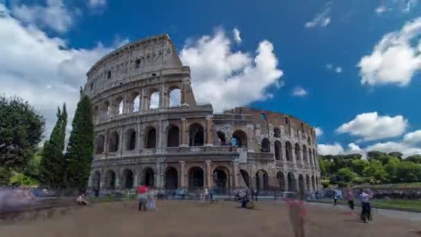 Das Kolosseum oder Kolosseum Zeitraffer-Hyperlapse, auch bekannt als Flavisches Amphitheater in Rom, Italien
