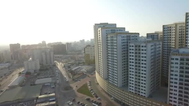 Panoráma města Ajmanu s moderními budovami letecký pohled shora