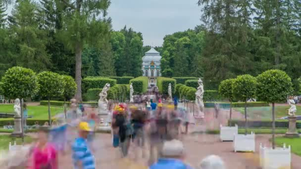 Tsarskoye Selo Pushkin timelapse, Saint Petersburg, Russia, Alley in the Park , Trees and shrubs
