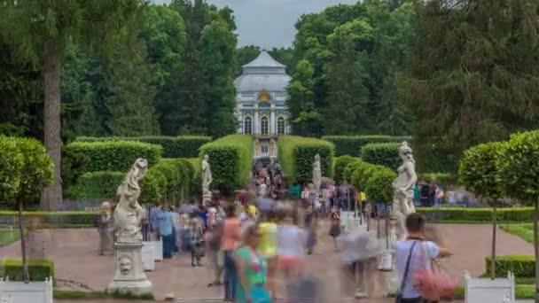 Tsarskoye Selo Pushkin timelapse, Saint Petersburg, Russia, Alley in the Park , Trees and shrubs