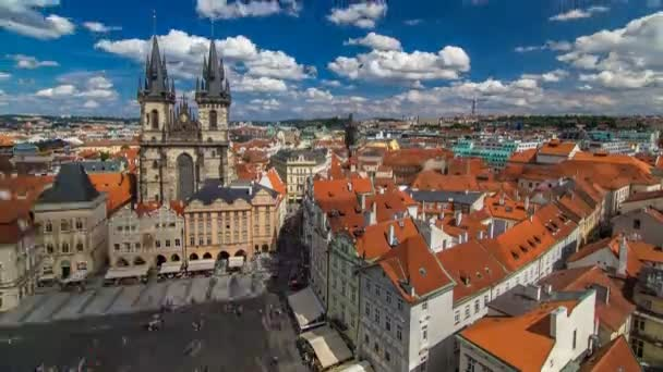 Old Town Square timelapse in Prague, Czech Republic. It is the most well know city square Staromestka nameste .