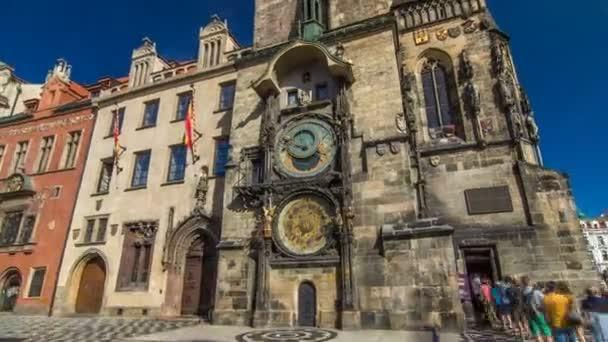 Prague Astronomical Clock timelapse hyperlapse in the Old Town Square, Prague, Czech Republic