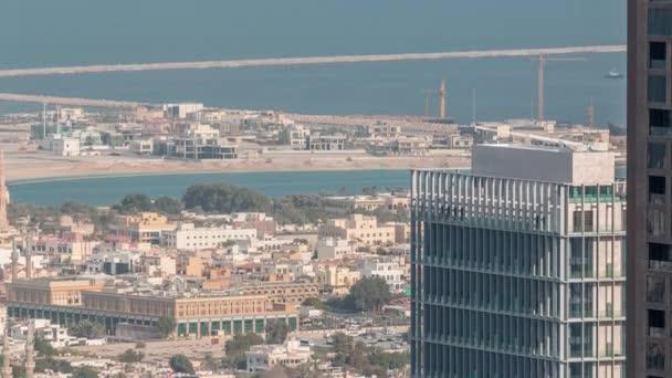 Luftaufnahme von Wohnhäusern und Villen in Dubai Stadt Zeitraffer, Vereinigte Arabische Emirate