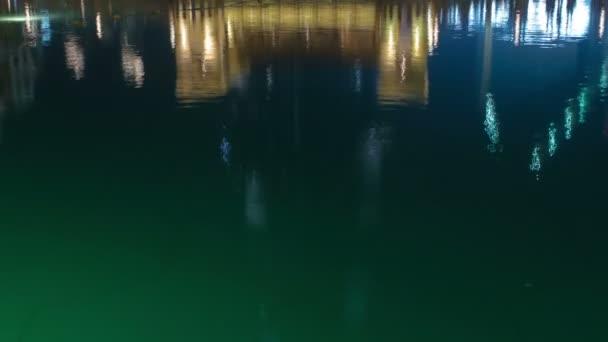 Bridge and fountains in front of Burj Khalifa, Dubai, Emirates timelapse