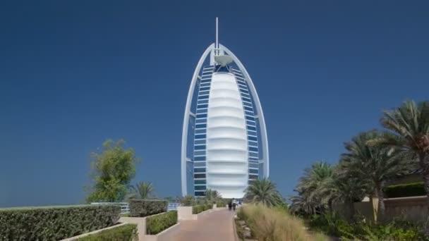 Burj Al Arab Considerado El Mundo Más Lujoso Hotel Timelapse