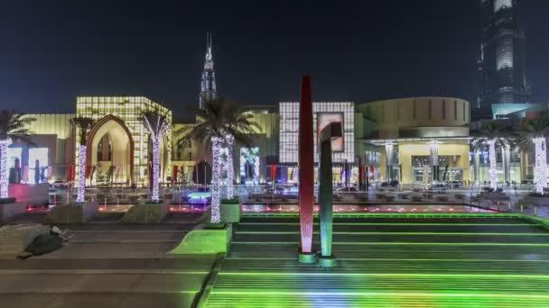 Vstup do Dubai Mall Dubaj, Spojené arabské emiráty timelapse hyperlapse
