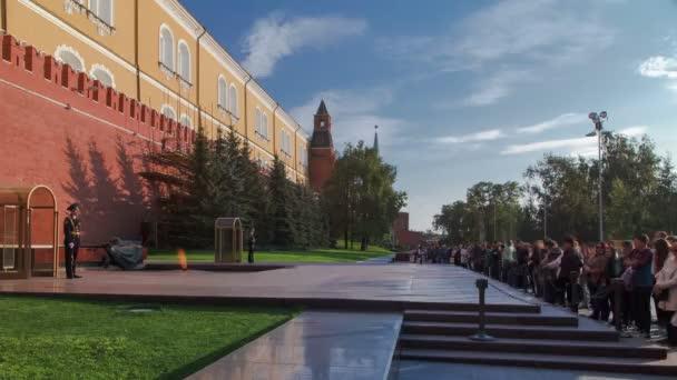 Cambio del timelapse onore guardia cerimonia presso la parete di Cremlino Mosca, Russia
