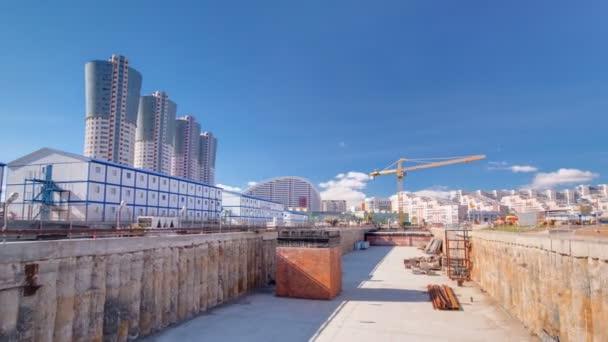 Výstavba nové kruhové linky metra. Rusko, Moskva timelapse