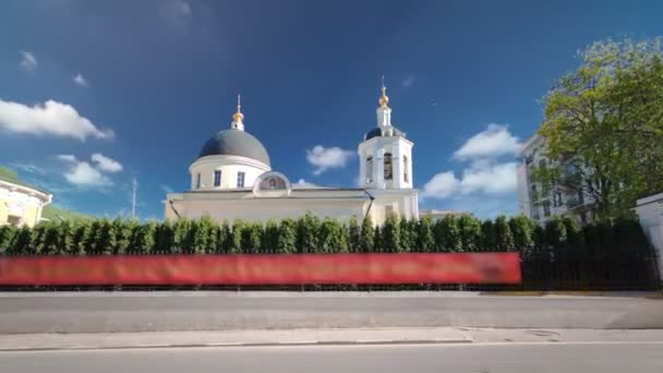 Kostel St. James Zebedee státu Sloboda v Yakovoapostolsky pruhu timelapse hyperlapse, Moskva, Rusko