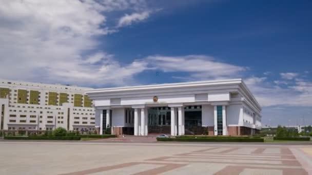 Supreme Court of the Republic of Kazakhstan timelapse hyperlapse. Astana, Kazakhstan
