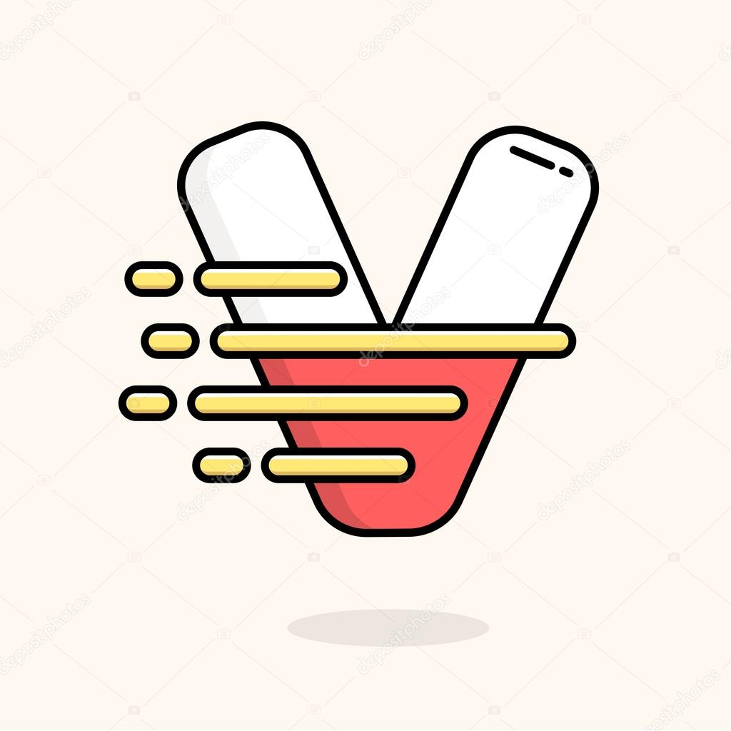 l ment de design pour le logo lettre v image vectorielle vyshnevskyy 84303168. Black Bedroom Furniture Sets. Home Design Ideas