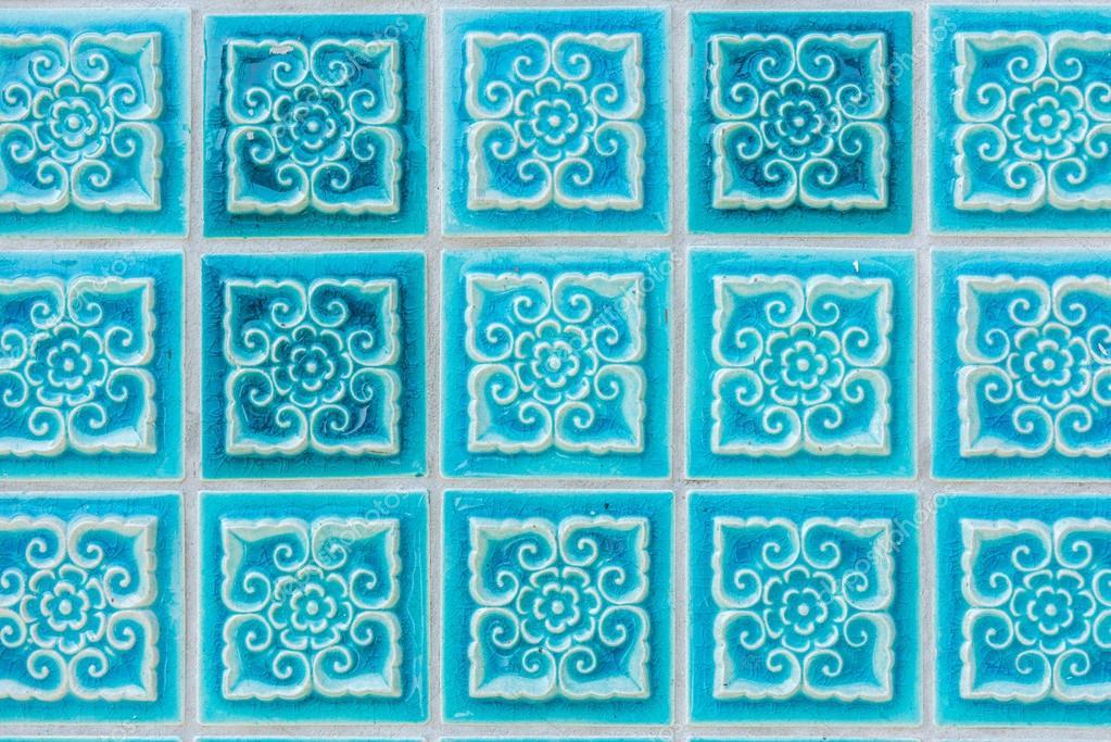 Muster Der Turkis Blume Glasierte Fliesen Stockfoto C Bpbomb