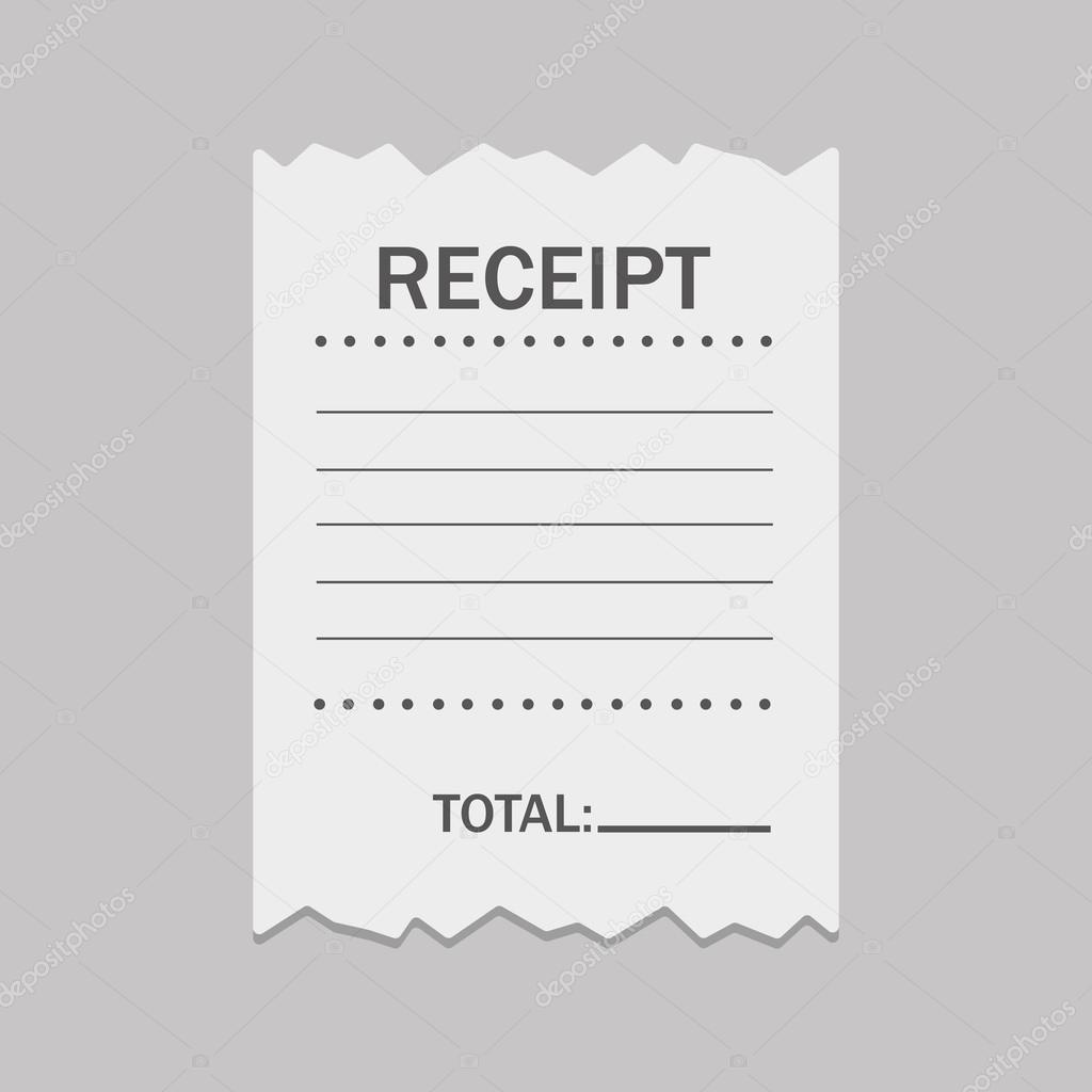 white blank receipt stock vector