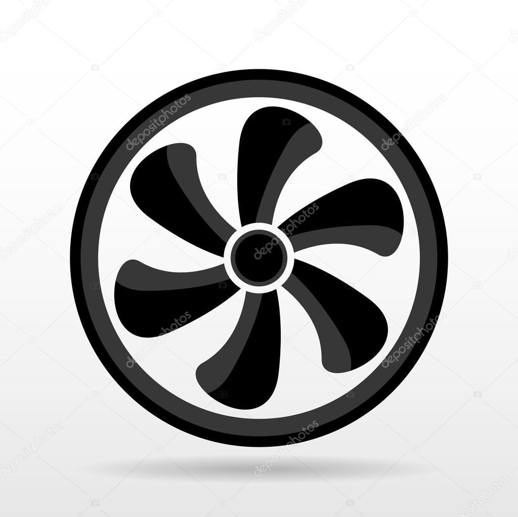 black ventilator symbol stock vector 4zeva 119170936. Black Bedroom Furniture Sets. Home Design Ideas