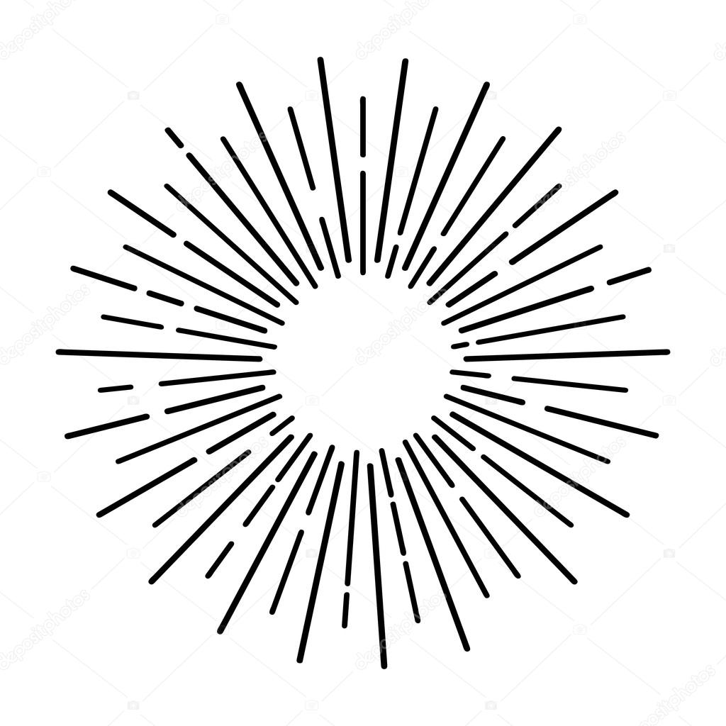 Line Drawing Sun Vector : Sun rays hand drawn — stock vector zeva