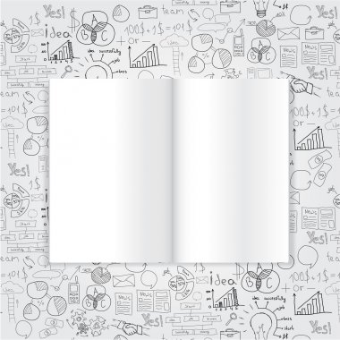 Book with drawing charts