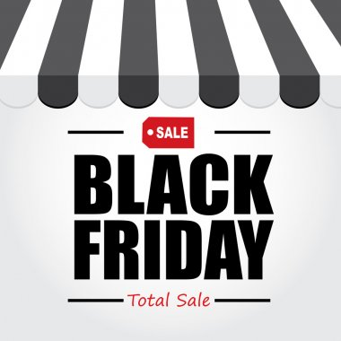 Background text Black Friday.