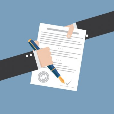 Agreement icon contract