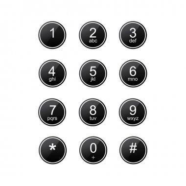 Flat keypad for phone
