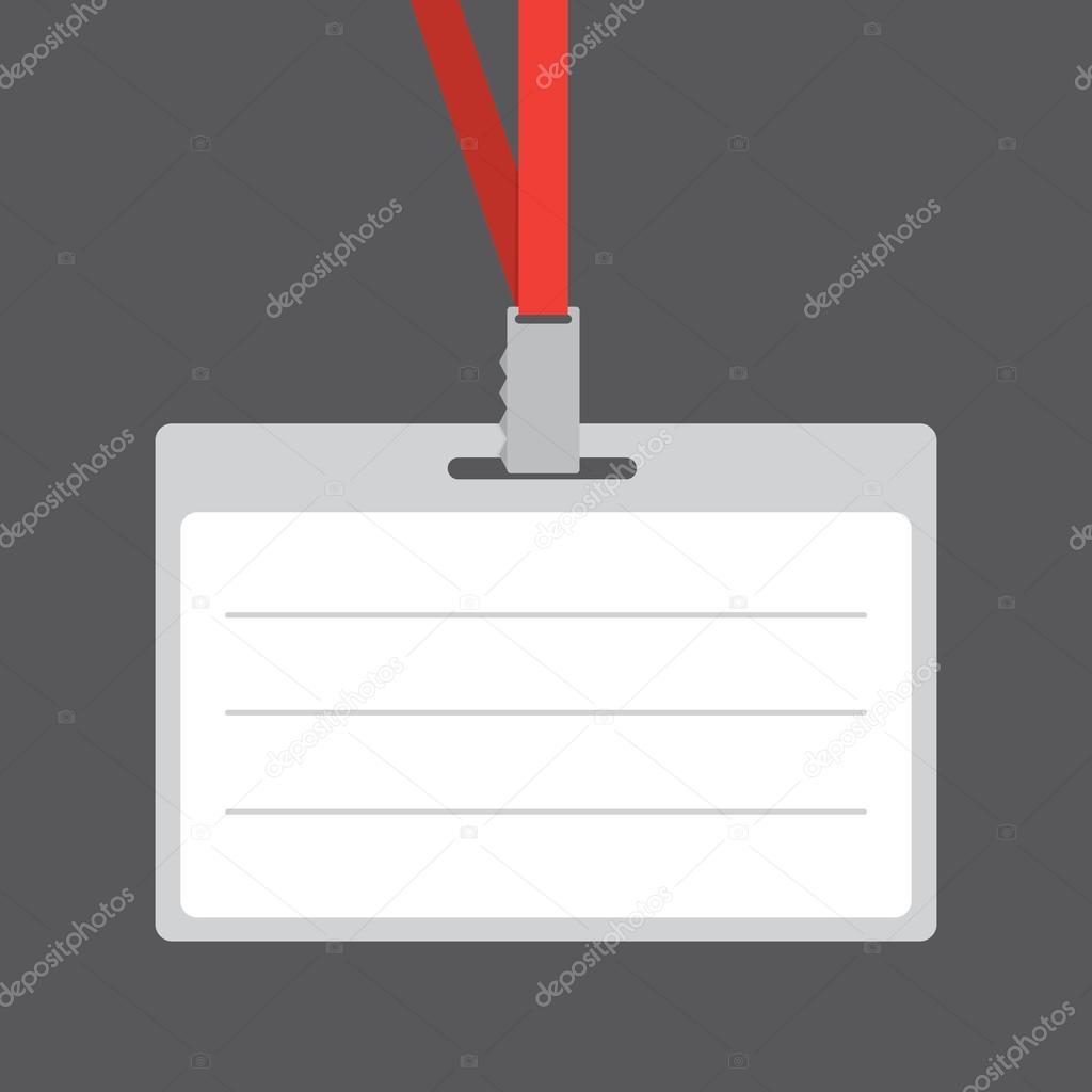 tarjeta de identificación con elemento de amarre — Archivo Imágenes ...