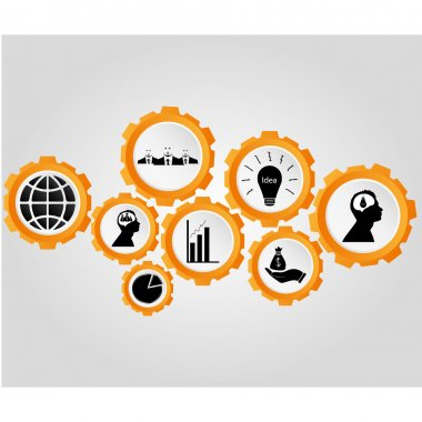 Business icons, management and human resources