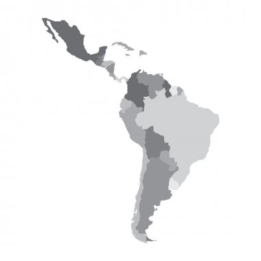 Vector illustration of Latin America map stock vector