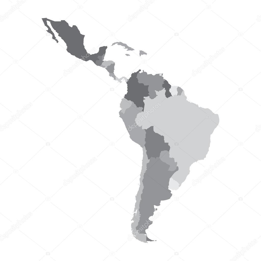 Latin America Map Stock Vector C 4zeva 66318313