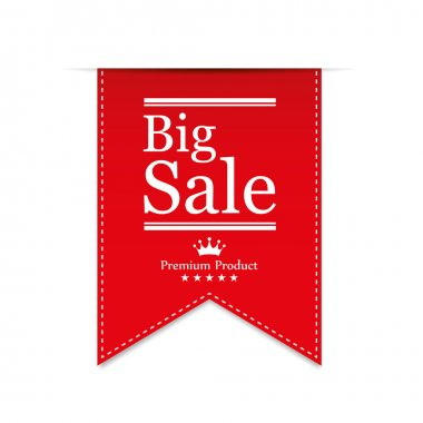 Illustration of sale and discount tag in flat style for promotion stock vector