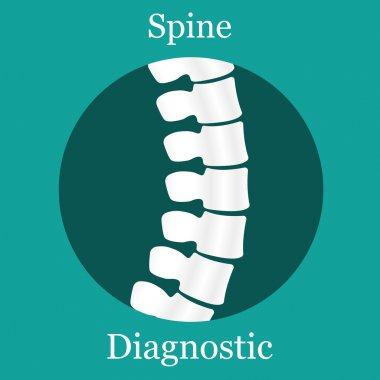 Spine Diagnostic in circle