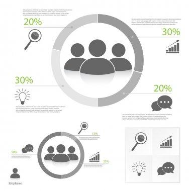 Teamwork infographic on white