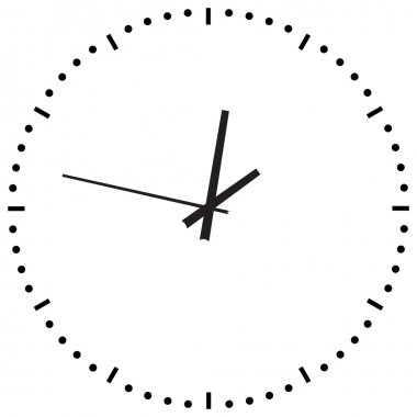 Black Clock on white