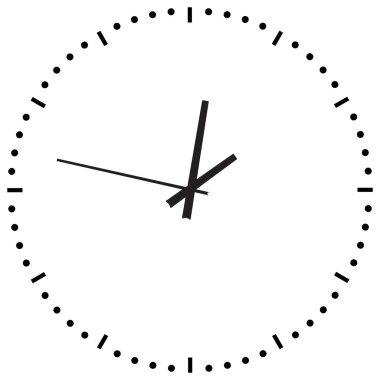 Black Clock on white