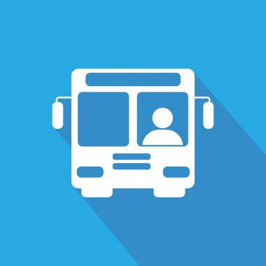 White Bus icon