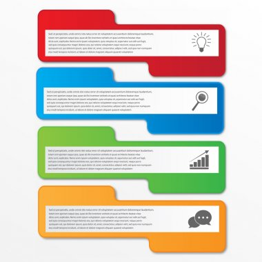 Business infographics tabs