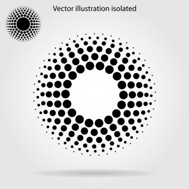 Halftone dots circle background stock vector