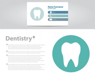 Dental care. Tooth concept