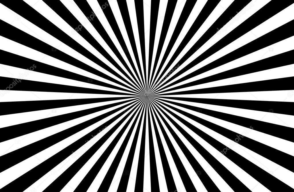 Sunburst Pattern black and white