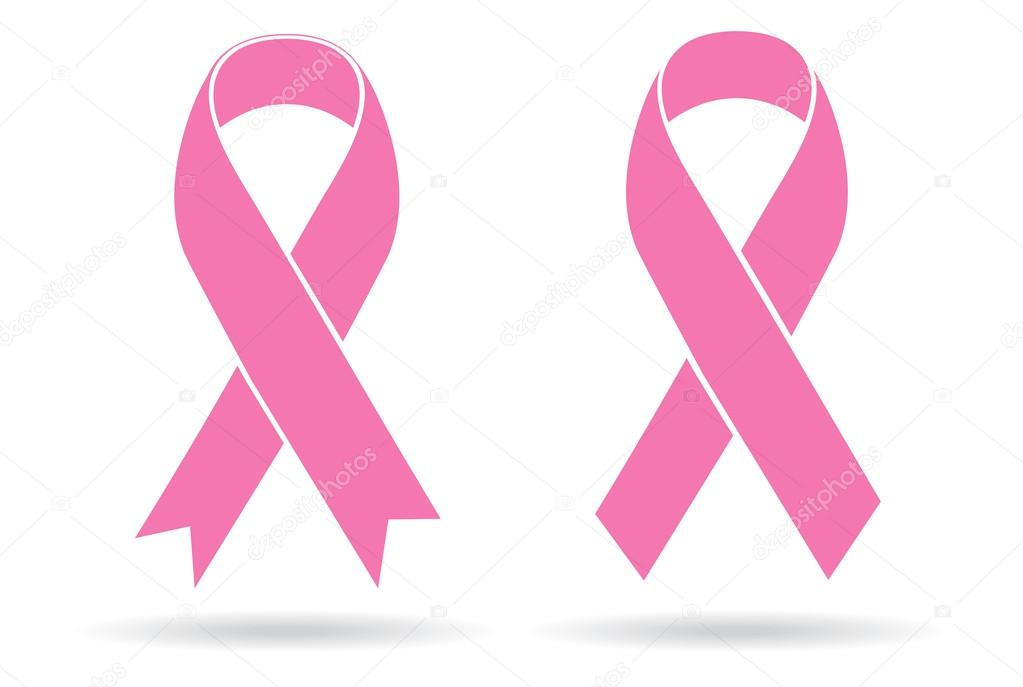 Pink Ribbons on white