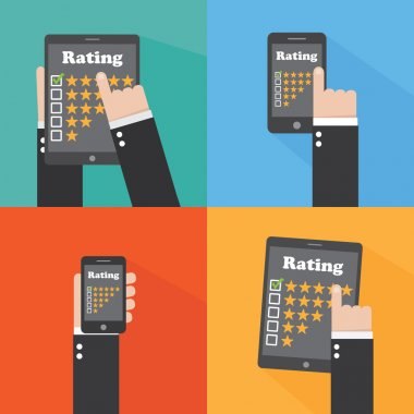 Rating. Flat design