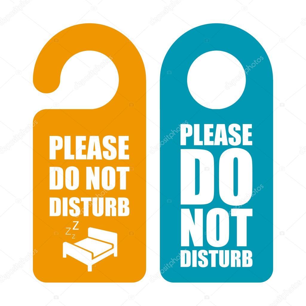 Do not disturb. Door hanger