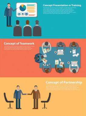 Training, meeting, and partnership concepts