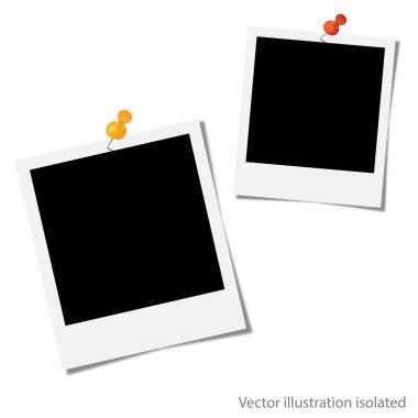 Photo album on white background